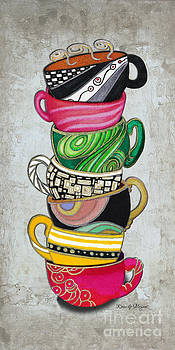 Kitchen Cuisine Stacked Hot Cuppa 2 by Romi and Megan by Megan Duncanson