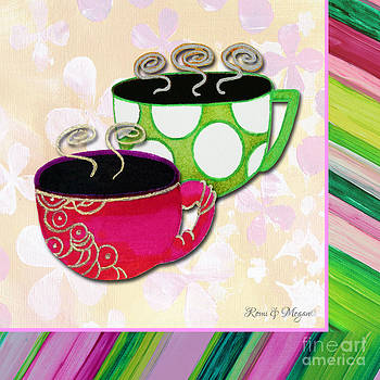 Kitchen Cuisine Tea Party Napkin Design 1 by Romi and Megan by Megan Duncanson