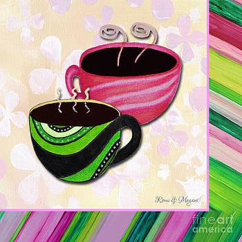 Kitchen Cuisine Tea Party Napkin Design 3 by Romi and Megan by Megan Duncanson