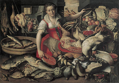 Vincenzo Campi - Kitchen with Chirst in the House of Martha and Mary