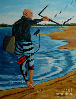 Kite Surfing by Anthony Dunphy