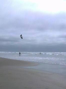 Kite surfing by Heather L Wright