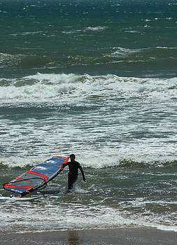 Kiteboarder Pacific Coast Highway by Gail Maloney