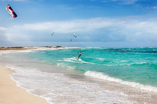 Jo Ann Snover - Kitesurfer at Boca Grande beach Aruba