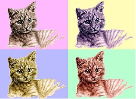 Kitten PopArt by Nicole Zeug