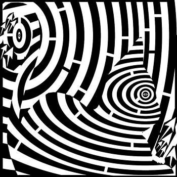 Kitten Waiting Maze by Maze Artist