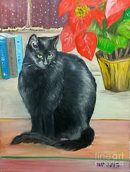 Kitty and Flowers by Madeleine Prochazka