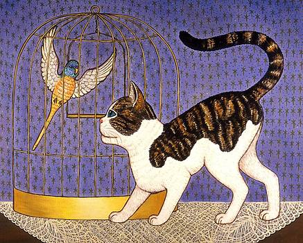 Linda Mears - Kitty and Parakeet