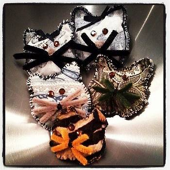 Kitty Cat Ornaments I Am Making by Ashley Fontenot