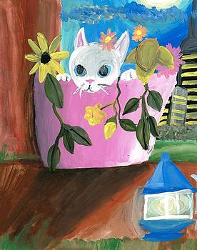 Artists With Autism Inc - Kitty in a Flowerpot
