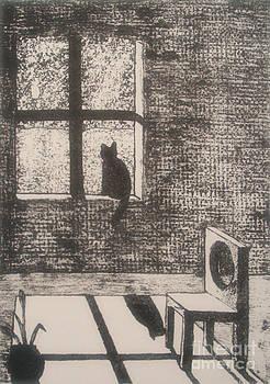 Kitty in a Window by Rachel Dunkin