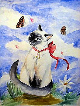 Kitty In The Wind by Gina Hyde