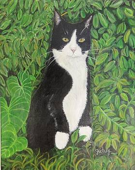 Kitty in the woods by Paintings by Gretzky