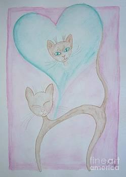 Kitty love dream by Liz Rosales