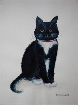 Kitty - painting by Veronica Rickard