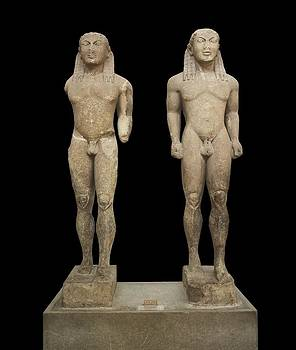 Kleobis And Biton Kouros. Ca. 610 -590 by Everett