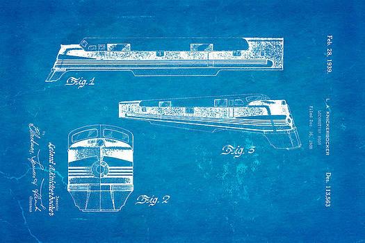 Ian Monk - Knickerbocker Locomotive Patent Art 1939 Blueprint
