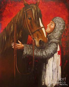 Knight and Horse by Kaye Miller-Dewing