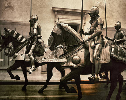 Knights Riding Horses by The Art With A Heart By Charlotte Phillips