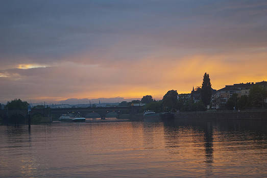 Koblenz Sunset by Cathy P Jones