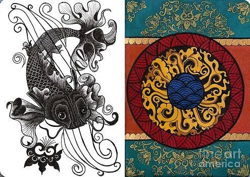 Koi and Mandala by Laura Kayon
