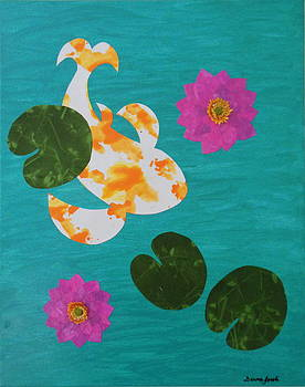 Koi Pond 2 by Donna Jacobi