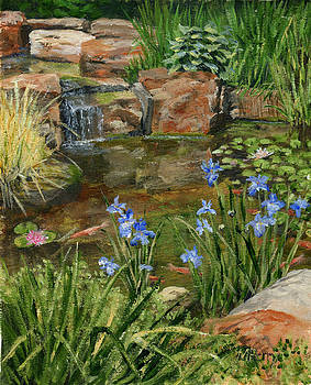 Koi Pond at Fell's by Margie Perry