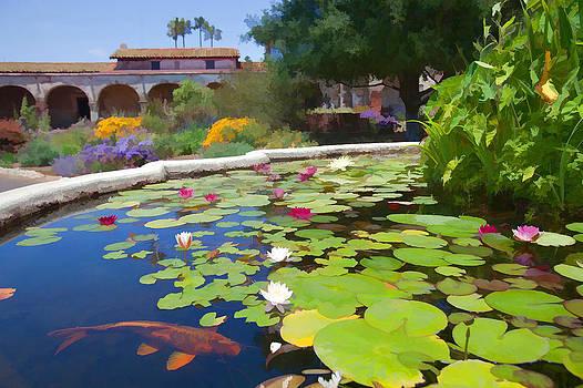 Cliff Wassmann - Koi Pond in California Mission