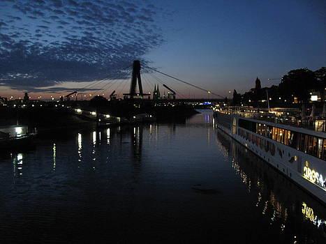 Koln Rhine Reflections by David  Hawkins