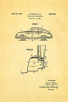 Ian Monk - Komenda Porsche Body Construction Patent Art 1962