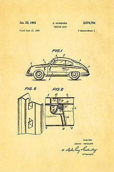 Ian Monk - Komenda Porsche Vehicle Door Design Patent Art 1963