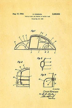 Ian Monk - Komenda VW Beetle Body Design Patent Art 1943
