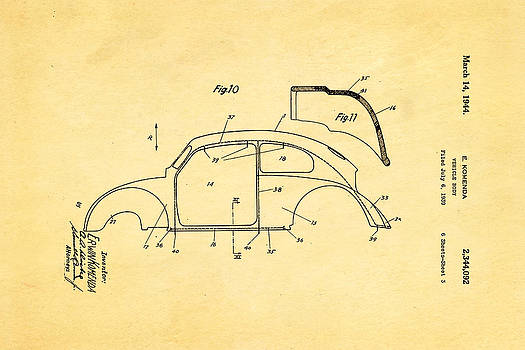 Ian Monk - Komenda VW Beetle Body Design Patent Art 2 1944