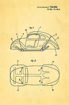 Ian Monk - Komenda VW Beetle Official German Design Patent Art