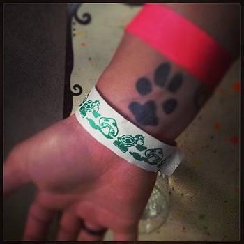#koopa #mushroom  #wristband  #pawprint by Mandy Shupp