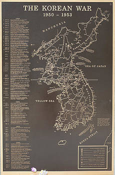 Korean War Map by Ralph Brannan