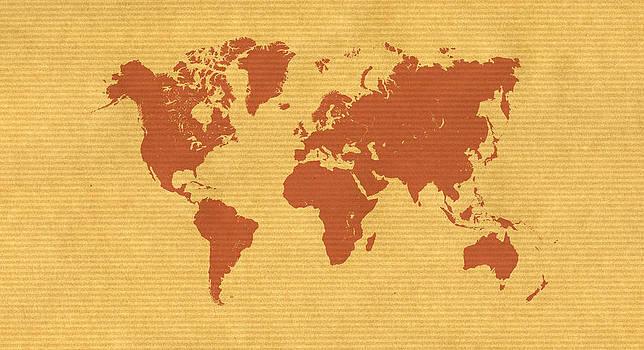 Hakon Soreide - Kraft Paper World Map