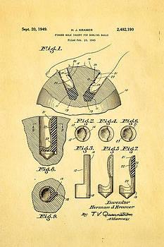 Ian Monk - Kramer Bowling Bowl Finger Hole Insert Patent Art 1949