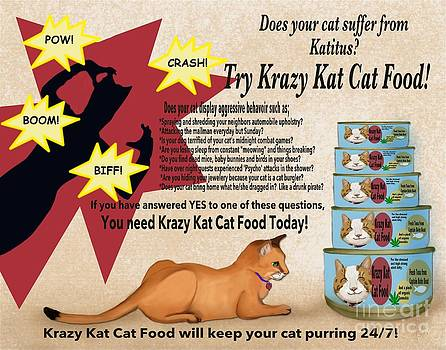 Krazy Kat Cat Food by Sydne Archambault