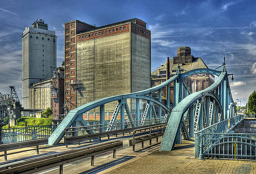 Krefeld Harbour Swing Bridge Germany  by David Davies
