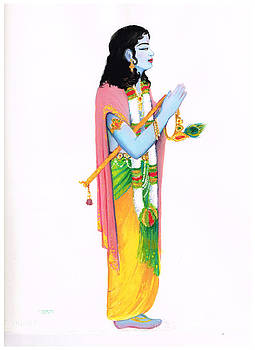 Krishna Approaches His Guru by Terri Ana Stokes