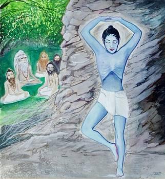 Krishna Performing Austerities by Terri Ana Stokes