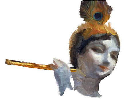 Krishna with a flute by Shiva G