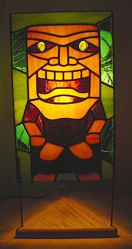 Ku Tiki Hawaiian God of War lamp by DK Nagano