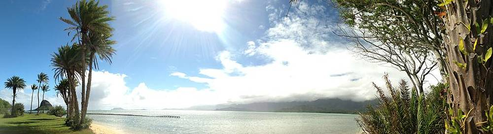 Kualua Park Beautiful Panoramic by Tropigallery -