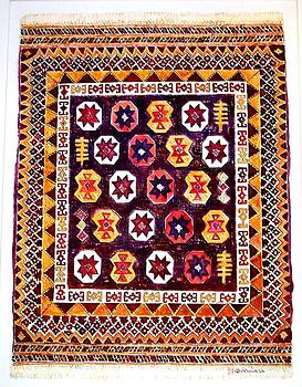 Kurdish Style rug by Norma Boeckler