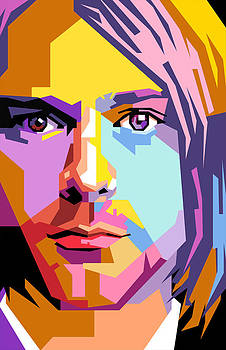 Kurt cobain pop art by Ahmad Nusyirwan