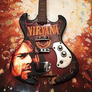Kurt Cobain Vintage Broken Guitar by Ocean Clark