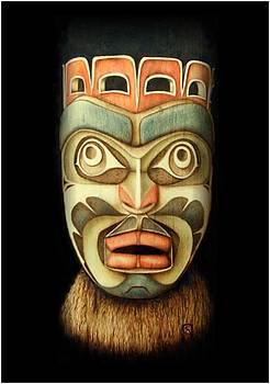 Kwakiutl Free Spirit Mask by Cynthia Adams