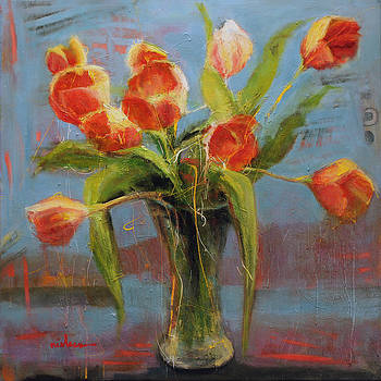 Kyle's Tulips by Leslie Rock